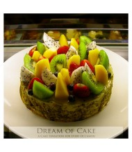 Green Tea Cake & Fresh Fruits